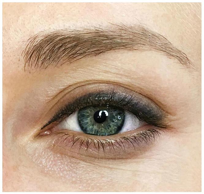 Перманентный макияж глаз с растушевкой