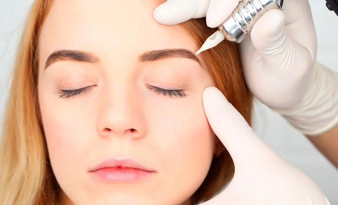 Заживление перманентного макияжа бровей