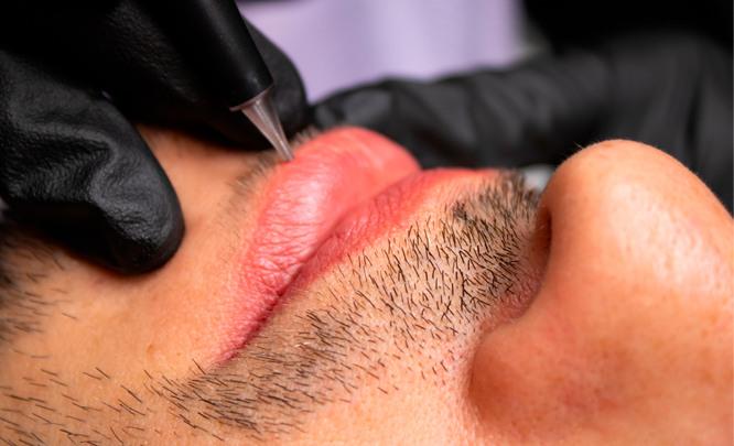 Перманентный макияж для мужчин