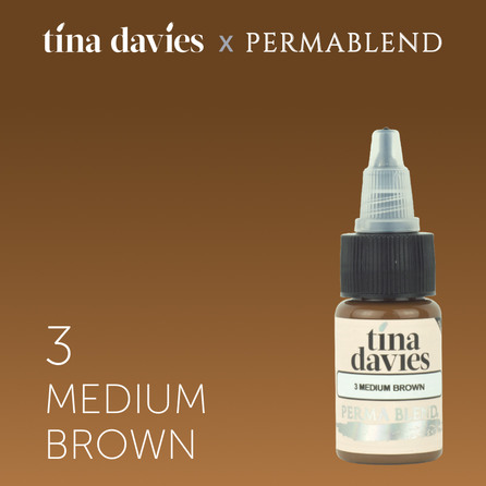 Tina Davies 'I Love INK' 3 Medium Brown