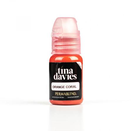 Tina Davies - Orange Coral + Помада + Карандаш